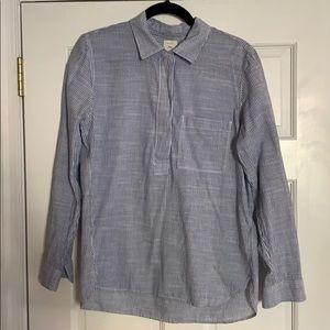 Blue white striped Gap blouse M